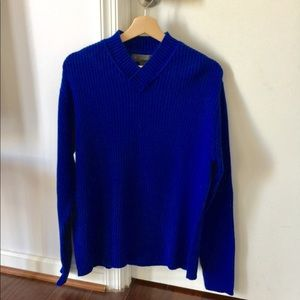 Men's V-Neck Ribbed Sweater